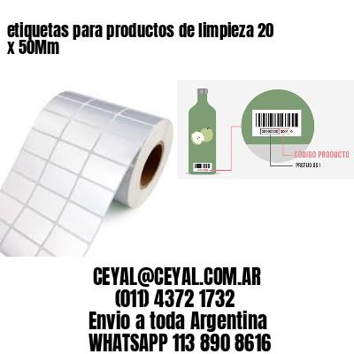 etiquetas para productos de limpieza 20 x 50Mm