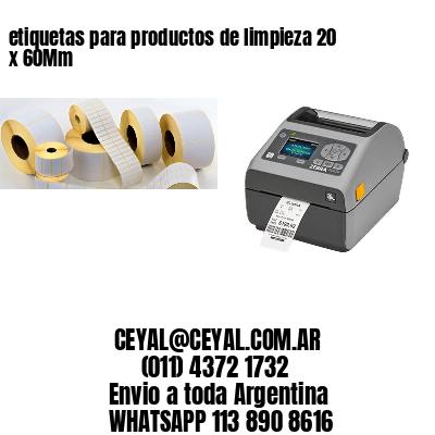 etiquetas para productos de limpieza 20 x 60Mm