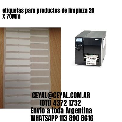 etiquetas para productos de limpieza 20 x 70Mm