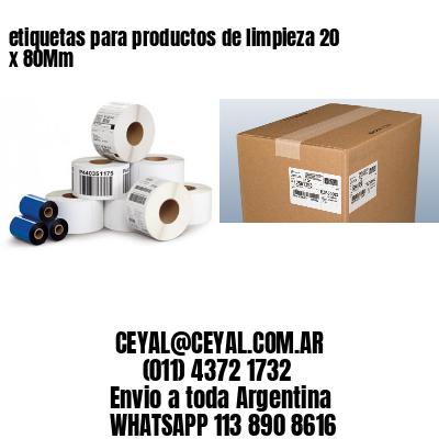 etiquetas para productos de limpieza 20 x 80Mm