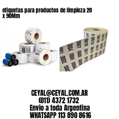 etiquetas para productos de limpieza 20 x 90Mm
