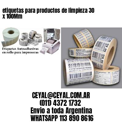 etiquetas para productos de limpieza 30 x 100Mm