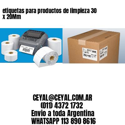 etiquetas para productos de limpieza 30 x 20Mm