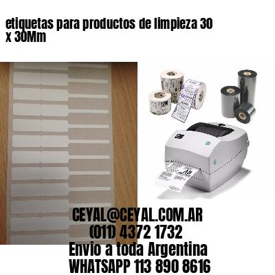 etiquetas para productos de limpieza 30 x 30Mm