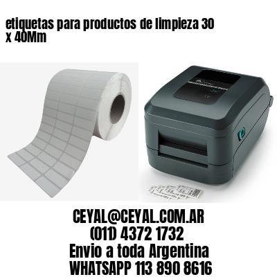 etiquetas para productos de limpieza 30 x 40Mm