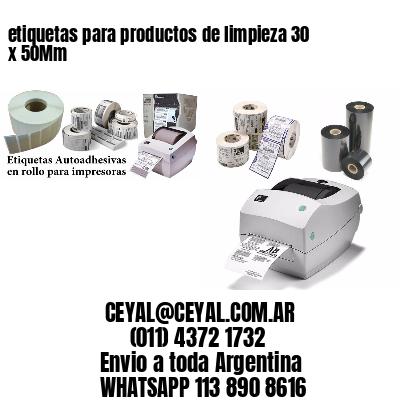 etiquetas para productos de limpieza 30 x 50Mm