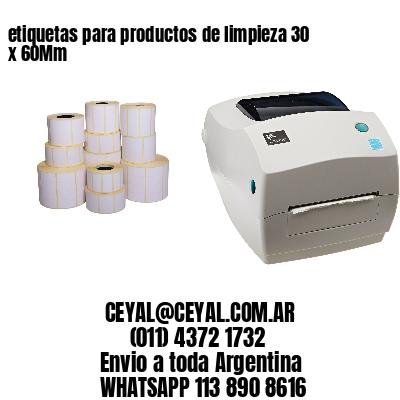 etiquetas para productos de limpieza 30 x 60Mm