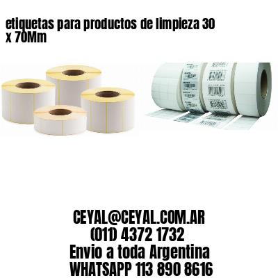 etiquetas para productos de limpieza 30 x 70Mm