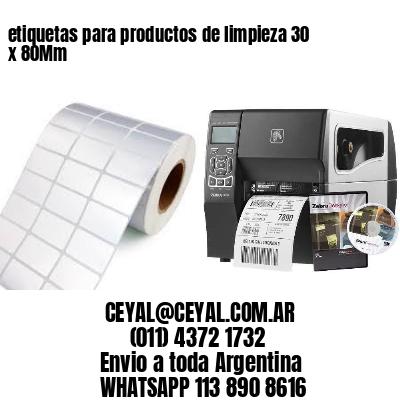 etiquetas para productos de limpieza 30 x 80Mm