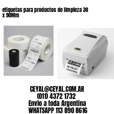 etiquetas para productos de limpieza 30 x 90Mm