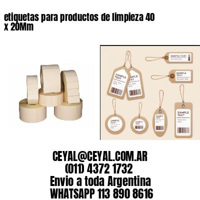 etiquetas para productos de limpieza 40 x 20Mm