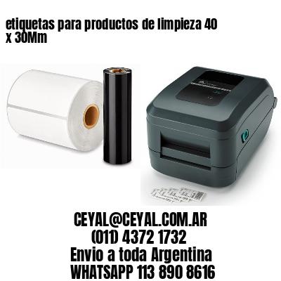 etiquetas para productos de limpieza 40 x 30Mm