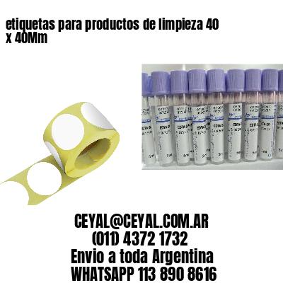 etiquetas para productos de limpieza 40 x 40Mm