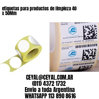 etiquetas para productos de limpieza 40 x 50Mm