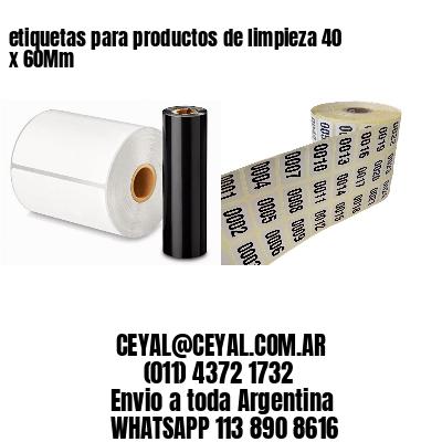 etiquetas para productos de limpieza 40 x 60Mm