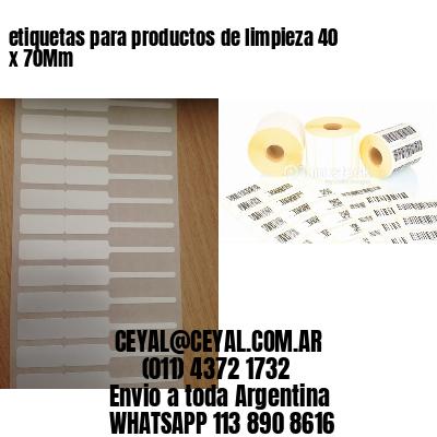 etiquetas para productos de limpieza 40 x 70Mm