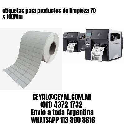 etiquetas para productos de limpieza 70 x 100Mm