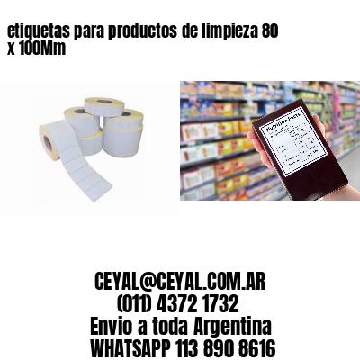 etiquetas para productos de limpieza 80 x 100Mm