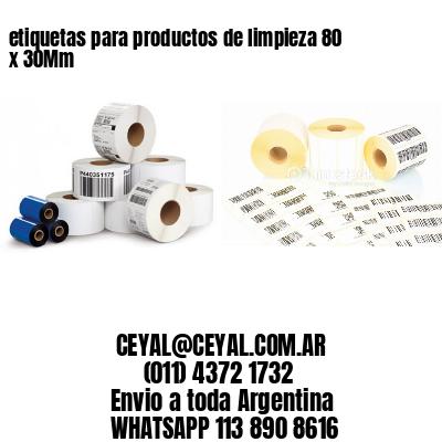etiquetas para productos de limpieza 80 x 30Mm