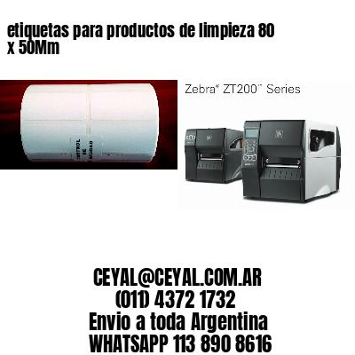 etiquetas para productos de limpieza 80 x 50Mm
