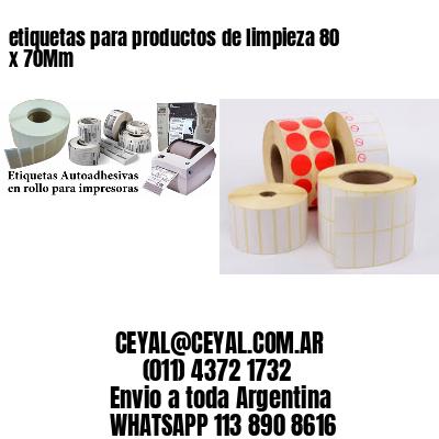 etiquetas para productos de limpieza 80 x 70Mm