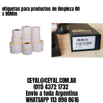 etiquetas para productos de limpieza 80 x 80Mm