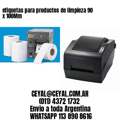etiquetas para productos de limpieza 90 x 100Mm