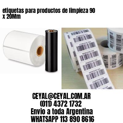 etiquetas para productos de limpieza 90 x 20Mm