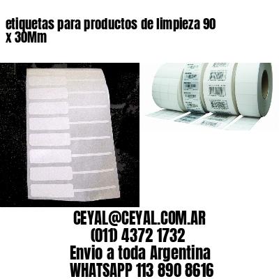 etiquetas para productos de limpieza 90 x 30Mm