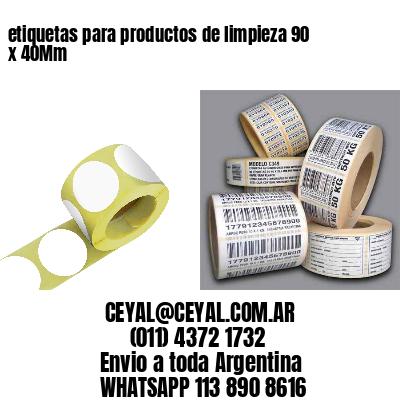 etiquetas para productos de limpieza 90 x 40Mm