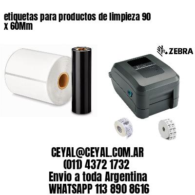 etiquetas para productos de limpieza 90 x 60Mm