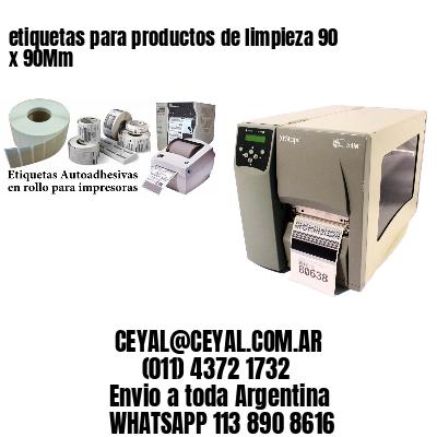 etiquetas para productos de limpieza 90 x 90Mm