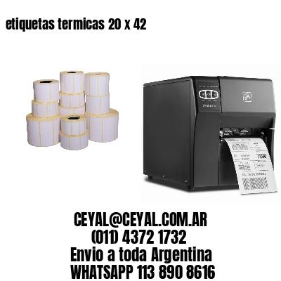 etiquetas termicas 20 x 42