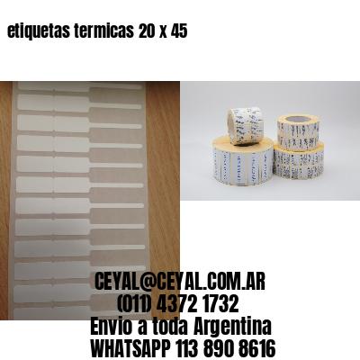 etiquetas termicas 20 x 45