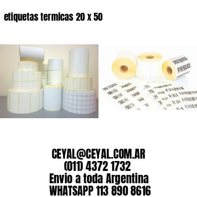 etiquetas termicas 20 x 50