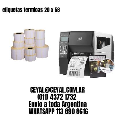 etiquetas termicas 20 x 58