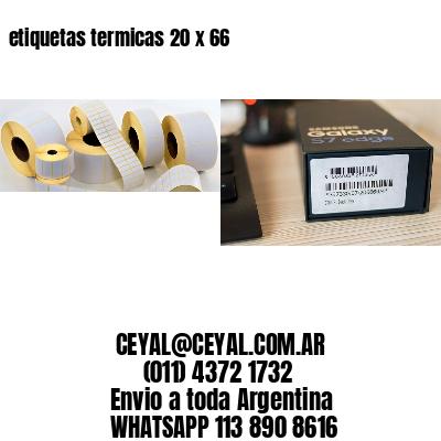 etiquetas termicas 20 x 66