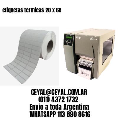 etiquetas termicas 20 x 68