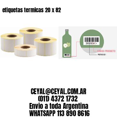 etiquetas termicas 20 x 82