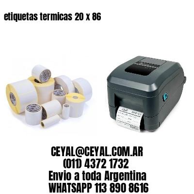 etiquetas termicas 20 x 86