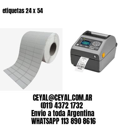 etiquetas 24 x 54