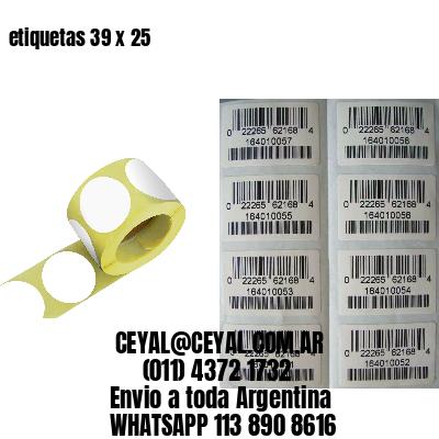 etiquetas 39 x 25