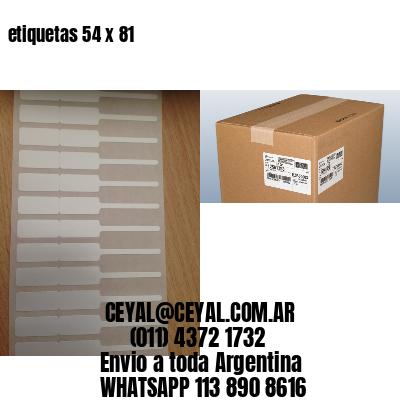 etiquetas 54 x 81