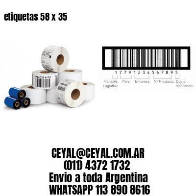 etiquetas 58 x 35