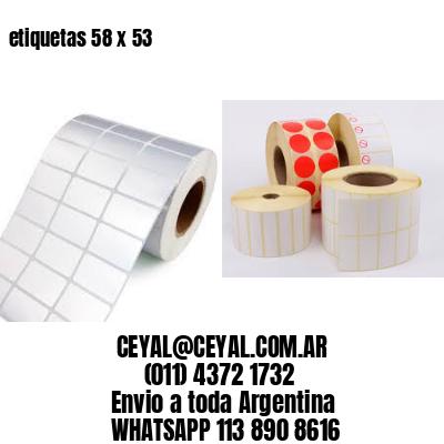 etiquetas 58 x 53