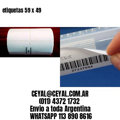 etiquetas 59 x 49