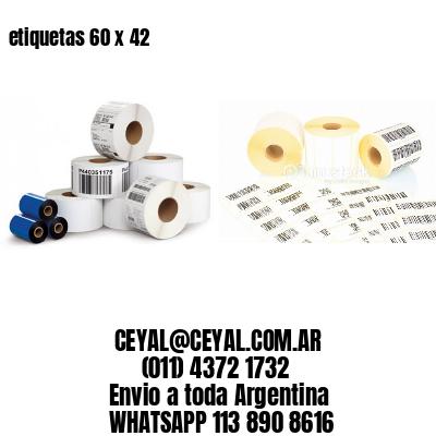 etiquetas 60 x 42