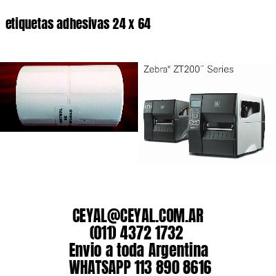 etiquetas adhesivas 24 x 64
