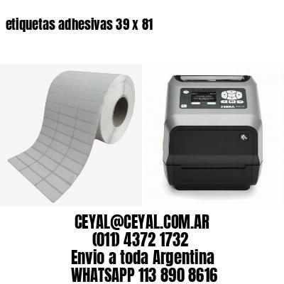 etiquetas adhesivas 39 x 81