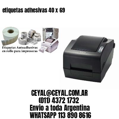 etiquetas adhesivas 40 x 69